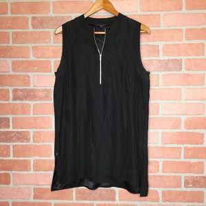 Lafayette 148 silk blouse sleeveless top (YY53)
